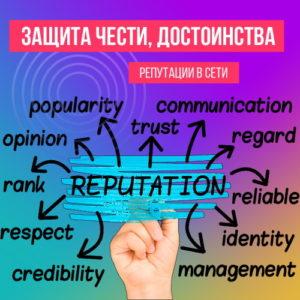 Защита чести, достоинства и репутации в сети